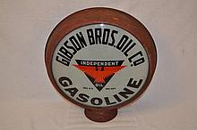 Gibson Bros. Oil Co Gasoline Globe.