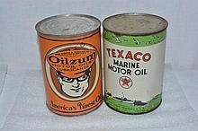 Oilzum & Texaco Marine Motor Oil Can.