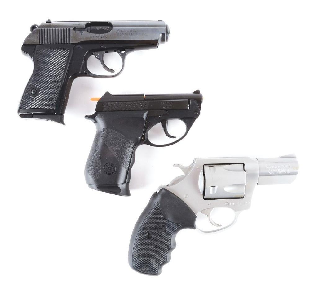 M) Lot of 3: One NIB KBI SMC 380, One NIB Taurus PT-22, and