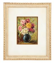 Framed Oil On Canvas Schultz Painting.