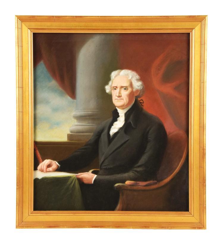 Framed Portrait of Thomas Jefferson.