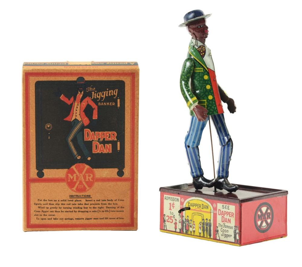 Scarce Marx Tin Litho Wind Up Dapper Dan Roof Dancer Bank wi