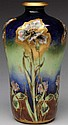 Amphora Ceramic Vase with Floral Decoration.