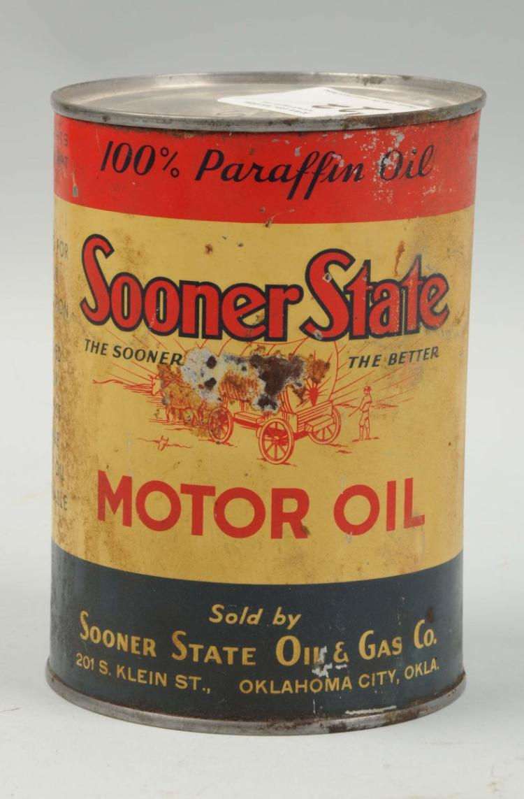 Sooner state oils one quart motor oil can for Quart of motor oil