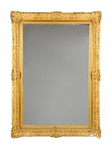 Magnificent Gold Gesso Framed Mirror.