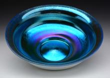 Steben Blue Aurene on Calcite Bowl.