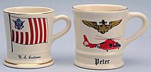 Lot of 2: Military Mugs.