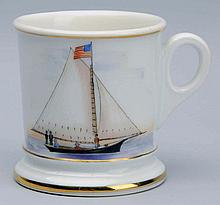 Single-Masted Sailboat Shaving Mug.