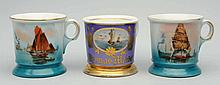 Lot of 3: Boat Shaving Mugs.