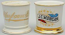 Lot of 2: Name Shaving Mugs.