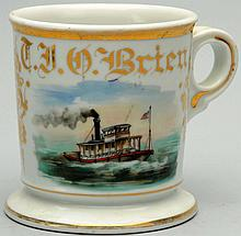 Tugboat Type Ship Shaving Mug.