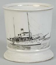 Steam Launch Yacht Shaving Mug.