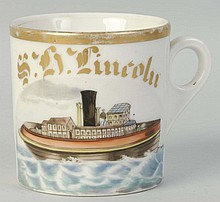 House Boat Shaving Mug.