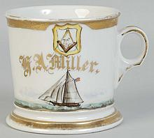 Fraternal Ship & Sailboat Shaving Mug.
