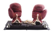 1959 Cassius Clay Fight Worn Gloves vs Charlie Dobbins.
