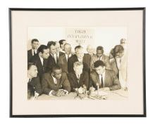 Oversized Cassius Clay and Sonny Liston Contract Signing Photo.