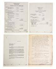 Cassius Clay vs Sonny Liston Cotracts, Books and Fight receipts.