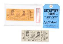 Muhammad Ali vs Sonny Liston Full Tickets and Press Pass.