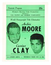 Archie Moore vs Cassius Clay Nov. 15, 1962.