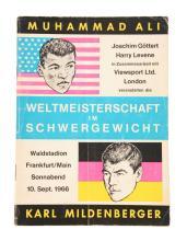 Scarce 1966 Muhammad Ali vs Karl Mildenberger Fight Program.