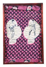 1974 Muhammad Ali & George Foreman Souvenir Cloth.
