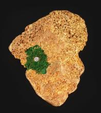 Africa Shaped Gold Nugget Presented To Muhammad Ali in Zaire.