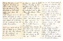 Nine Pages of a Racially Charged Muhammad Ali Handwritten Speech.