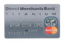 Muhammad Ali's Titanium Mastercard.