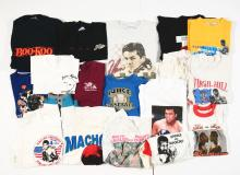 Lot of Vintage and Contemporary Boxing Shirts and Pants.
