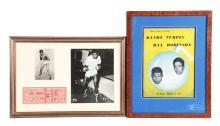 Lot of 2: Sugar Ray Robinson & Randy Turpin Boxing Memorabilia.