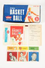 1961 Fleer Basketball Archive Collection Near Set with Display Box.