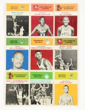 1961 Fleer Basketball Archive Collection Near Set (64/66).