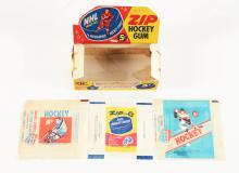 1962 Parkhurst Display Box & 1950's Topps Hockey Wrappers.
