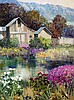 Kent Wallis - Garden Behind the Barn, Kent R Wallis, Click for value