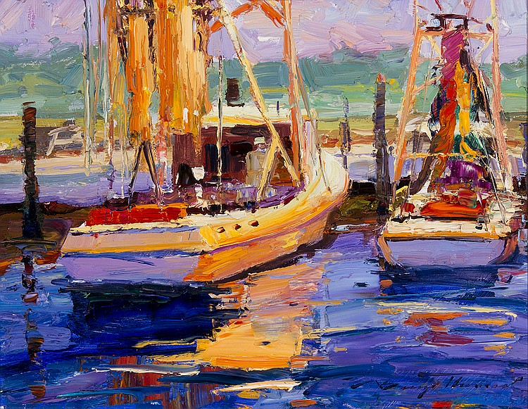 Barry Thomas - Boats in the Harbour