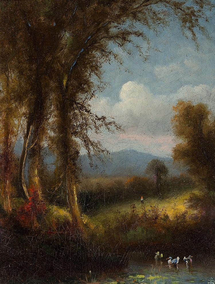 Elisha Taylor Baker - Ducks on a Pond