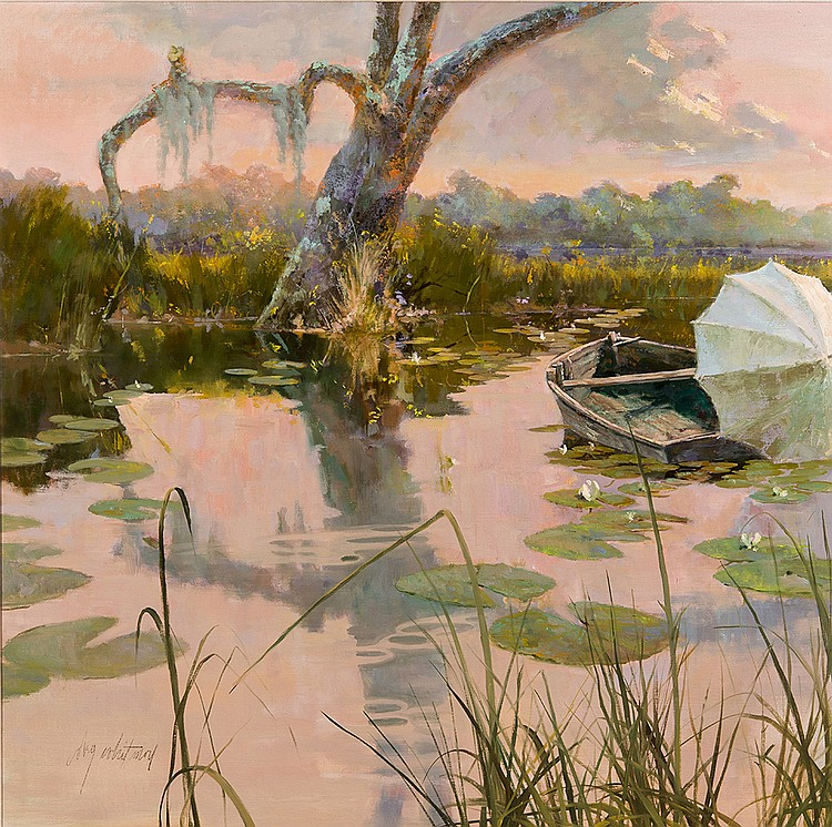 Coby Whitmore - Lowcountry View w/ Boat and Parasol