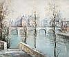 Lucien Delarue - Les Quais de la Seine, Lucien Delarue, $200