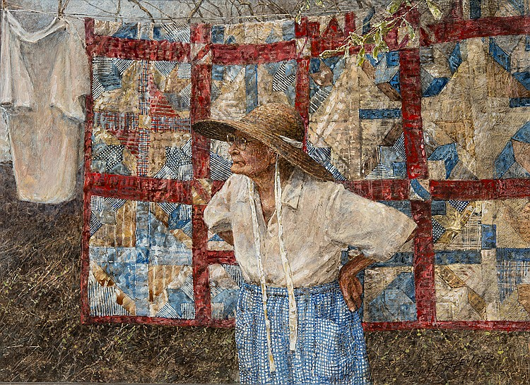 Donny Finley - Grandmother with Quilts