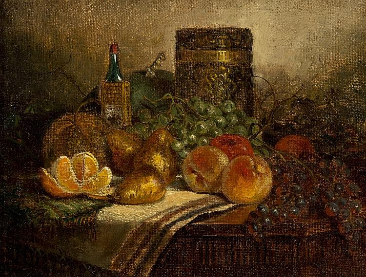George W. Whitaker - Still Life with Fruit, Still Life with Fruit & Vase