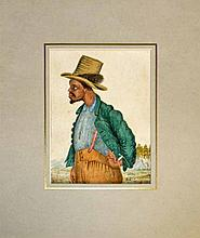 FRAMED WATERCOLOR OF A BLACK MAN