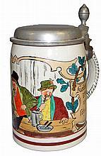 MEN IN A PUB BEER STEIN