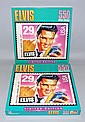 TWO BOXED ELVIS PRESLEY POSTAGE STAMP JIGSAW PUZZLES