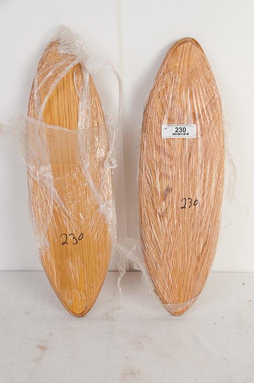 2 Solid Oak Boards for Fish Mounts