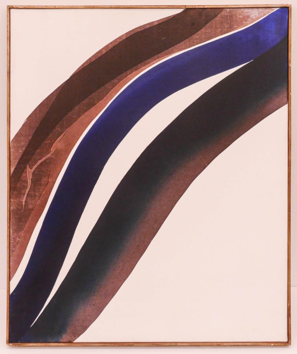 Paul Jenkins ''Phenomena Two Lights White'' 1963 Oil