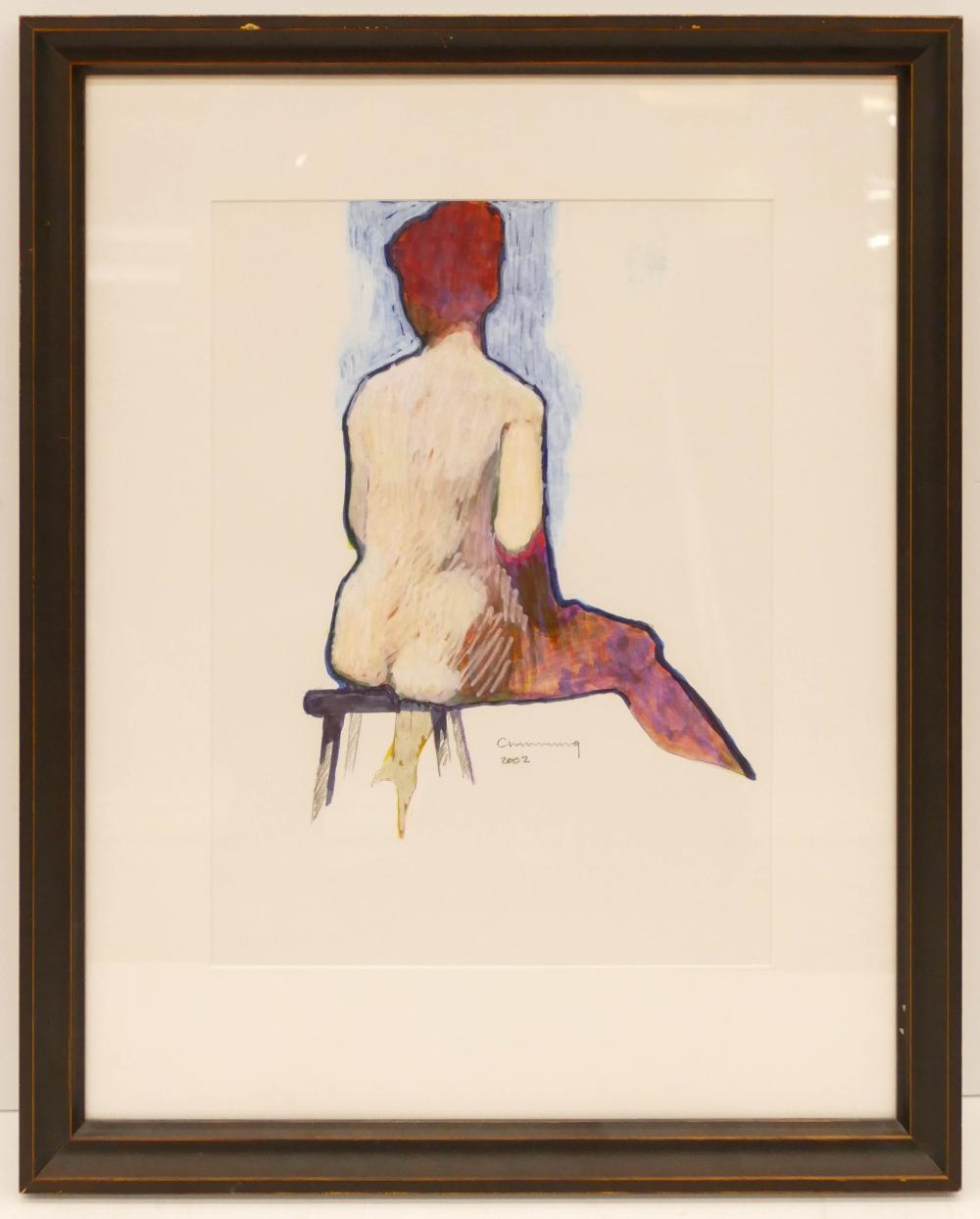 William Cumming ''Seated Nude'' 2002 Mixed Media