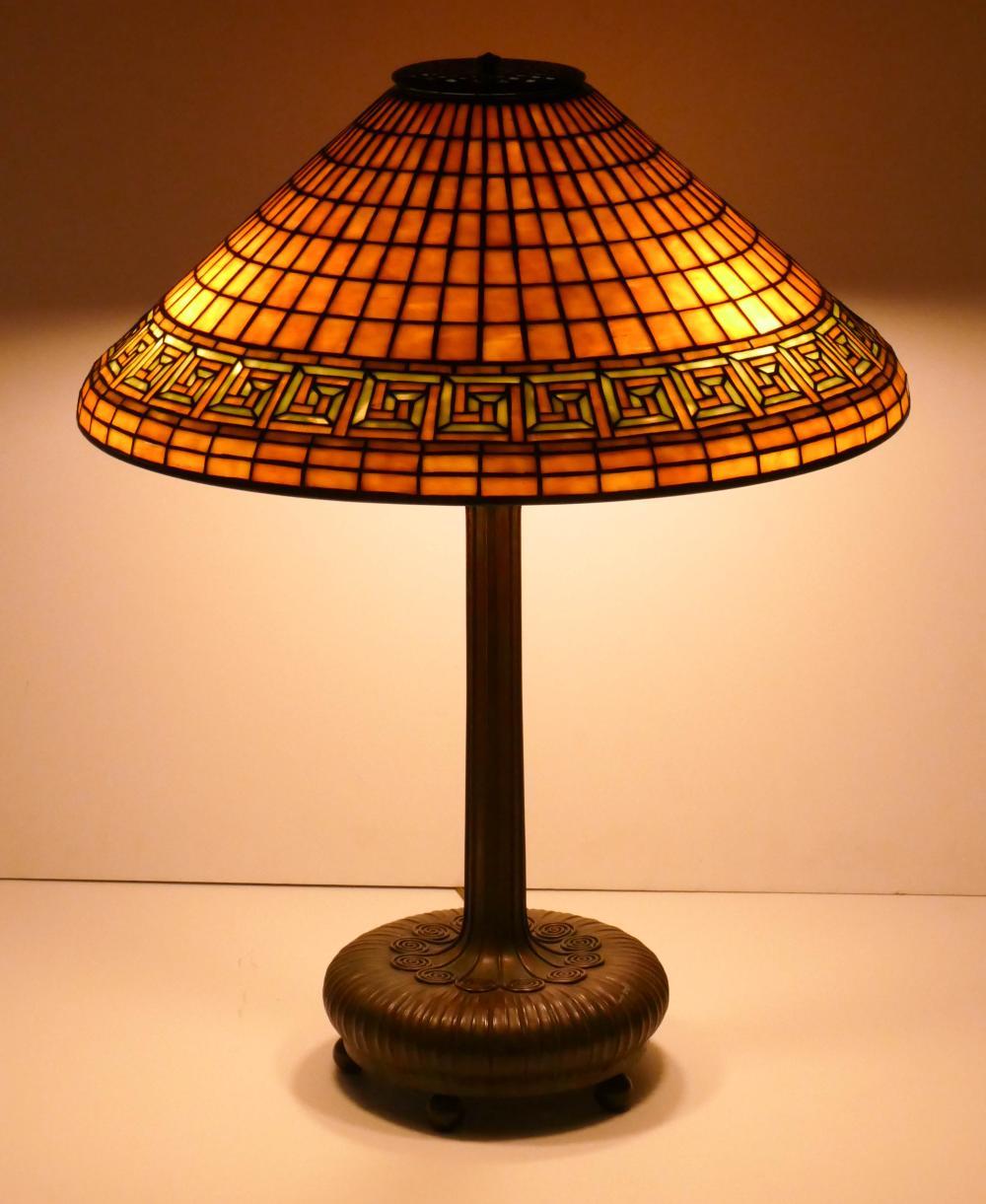 Tiffany Studios ''Greek Key'' Table Lamp