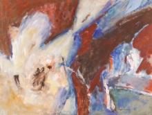 Boyer Gonzales ''A Red Emerging'' Oil on Paper