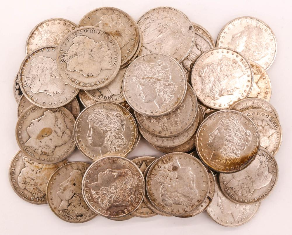 40pc US Morgan Silver Dollars Assorted Dates