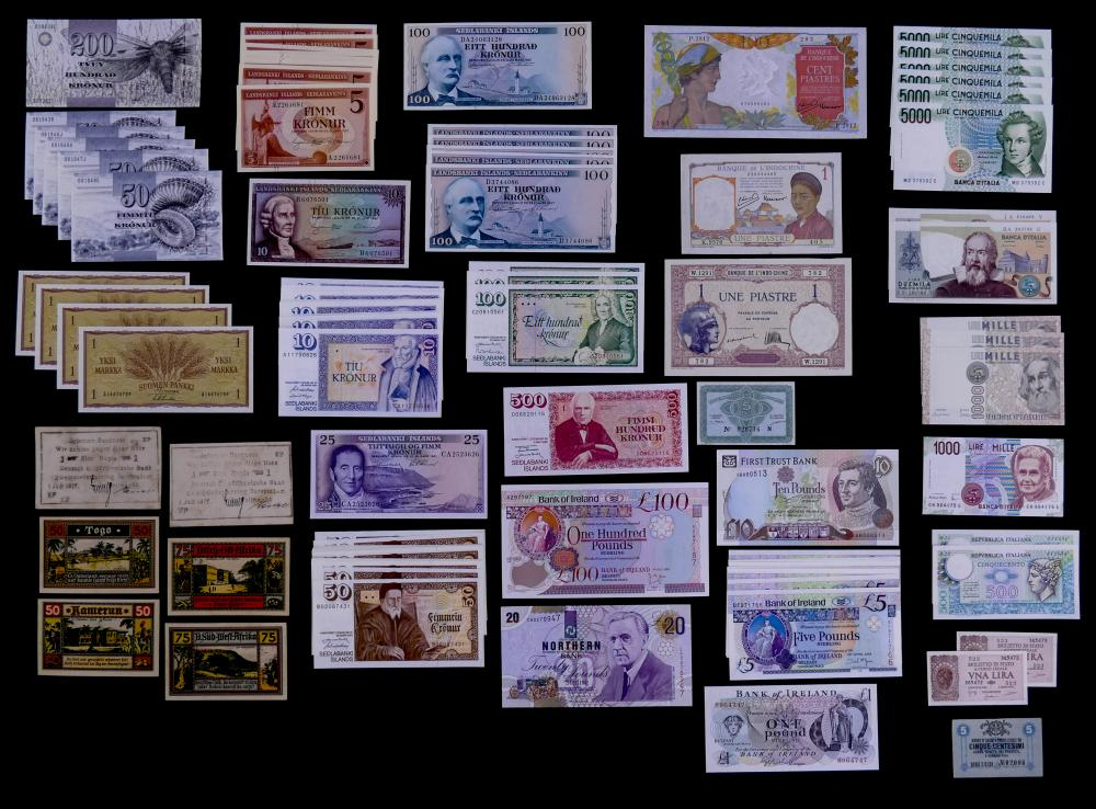 107pc Misc Uncirculated World Currency
